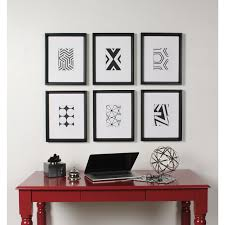 shop kate and laurel calter 6 piece framed black and white print art set on sale free shipping today overstock 13840053 on 6 piece wall art set with shop kate and laurel calter 6 piece framed black and white print art