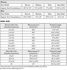Sock Knitting Foot Size Chart 80 Exhaustive Womens Foot Width Chart