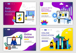 Page Design Templates Set Of Web Page Design Templates For Industry Teamwork Business Strategy Analytic And Presentation Modern Vector Illustration Concepts For Website