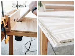 The pictures below are the prototype i made. Diy Plywood Desk Within The Grove