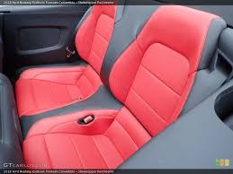 showstopper red interior rear seat for