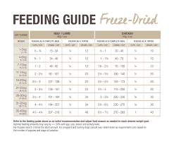 Dog Feeding Guide Freeze Dried K9 Natural