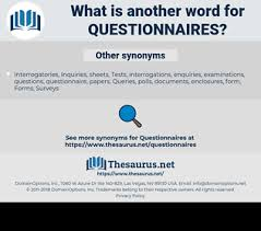 Another Word For Questionnaire Synonyms For Questionnaires Thesaurus Net