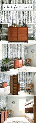 A Birch Forest Stenciled Boys Bedroom Makeover  Stencil Stories - Diy boys bedroom