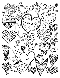 Small Picture Free Heart Coloring Page