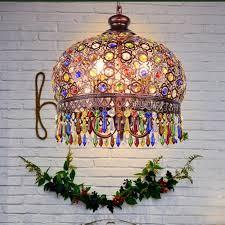 crystal pendant lamp light wrought iron lamps pendant lights for kitchen island dining living room mediterranean designer pendants pendant lighting shades