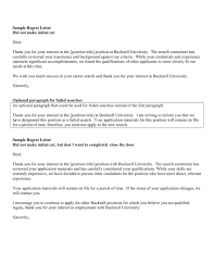 Rejection Letter In Word And Pdf Formats