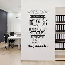 new 2016 wall decals quotes work hard vinyl wall sticker letters decorative office home decoration diy aliexpresscom buy office decoration diy wall
