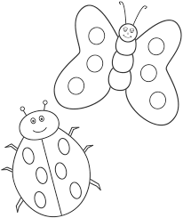 Lady Bug Coloring Sheet Ladybug And Butterfly Switch The Wings On The Butterfly