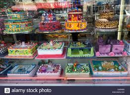 Birthday Cakes Ina Shop In New York City Stock Photo 58299673 Alamy