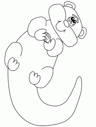 Small Picture Animals Page 18 Otter Animals Coloring Pages Otter2 Animals