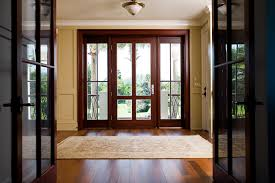 standard front door size with sidelights