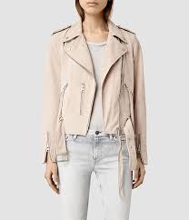 amazing style jacket womens pink plait balfern biker
