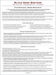 Human Resources Resume Objective Publicassets Us