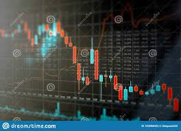 Stock Investment Chart Stock Market Trading Graph Investment Chart Stock Photo