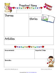 February Newsletter Template February Preschool Newsletter Template Pdfsimpli