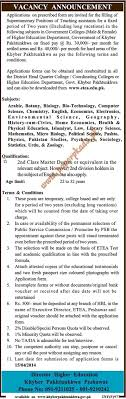 teaching assistants jobs in government colleges kpk paperpk teaching assistants jobs in government colleges kpk