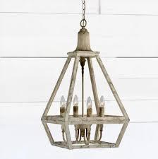 distressed style 4 bulb pendant light antique farmhouse