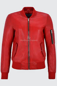 karlie kloss las stand out cool real leather retro er red biker jacket new