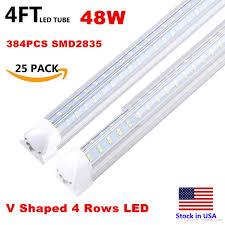 6 Ft Fluorescent Light Fixture Integrated T8 Fluorescent Lamp 4ft 5ft 6ft 8ft 8 Feet Led Tube Light V Shape Led Light Fixtures 4 Rows Ac85 277v Neon Light Tubes Fluro Tubes From
