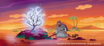 Image result for moses and the the burning bush