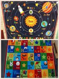 solar system rug teach me educational kids rug solar system planets alphabets solar system rug