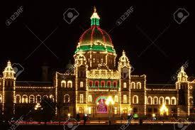 Victoria Parliament Building Lights Victoria Parliament Building Bc Canada