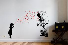 wondrous ideas urban wall art home remodel astronaut heart bubble love sticker decal banksy canvas prints stickers uk etsy melbourne on urban wall art ideas with luxury ideas urban wall art ishlepark