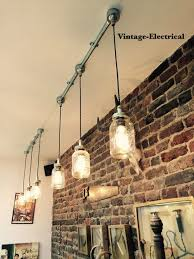 lighting for bars. the kenninghall 3 x kilner hanging mason jar lights ceiling dinning room office kitchen table vintage edison filament lamps pendant lighting for bars