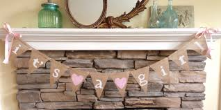 Baby Shower Decoration Ideas  Paperia  Philadelphia PA  The Baby Shower Burlap Banner