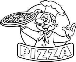Small Picture Coloring Pages Kids Dinner Pizza Cartoon Coloring Page Pizza