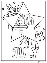 Small Picture 4th of July Fireworks Coloring Page MyTeachingStationcom