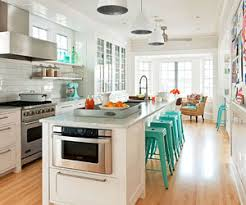 It's easy to see why kitchen islands equipped with seating are must-haves  in new and remodeled kitchens. The structures separate and define cooking  and ...