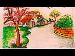 landscape watercolor painting for kids