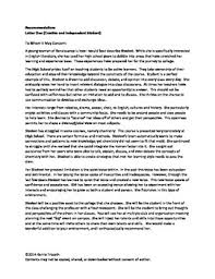 Writing A College Recommendation Letter For College Admissions College Admissions Letter Of Recommendation Examples