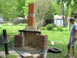 build brick outdoor fireplace your own stone cinder block plans approximate dimensions
