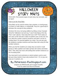 peterson s pad halloween story mat bie  well it s halloween time and so here is the lesson i did a halloween mat my firsties had a blast