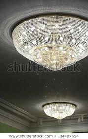 chandelier clean crystal chandelier close up clean background richly theatrical chandelier in modern vintage interior chandelier