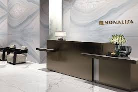 this smart reception area features marble effect 2 4mx1 2m onyx bianco wall tiles and