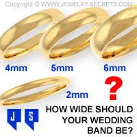 How Wide Should Your Wedding Band Be Jewelry Secrets