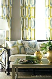 new england home han hiltz chic yellow gray blue living room gray blue curtains grey walls