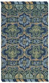 safavieh blossom blm422a navy green area rug