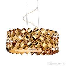 gold stainless steel chandelier pendant lamp lighting in modern tire style good for kitchen dining room restarurant living room d21 6 e14 pendants hanging