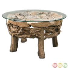 Uttermost Teak Root Traditional Coffee Table 25619