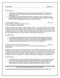 Job Description Sample Resume Inspiration Project Manager Construction Jobs Project Manager Job Description