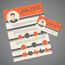 Download Resume Cv Template With Business Card Stock Vector - Image:  58394913