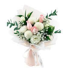 Beyaz Renkli Şakayık Buketi - Bağcılar Çiçek Evi