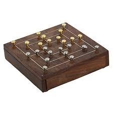 Handmade Wooden Board Games Handmade Brass and Wood Nine Mens Morris Board Game Travel Game 7