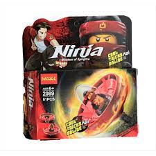 Bộ xếp hình Decool 2089 Con quay lốc xoáy Ninjago của Kai - 61 chi tiết