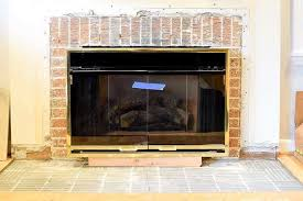 after removing the tile from the fireplace surround i was left with the original brick